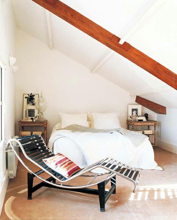 Schlafzimmer Mit Dachschräge Schönes Bett