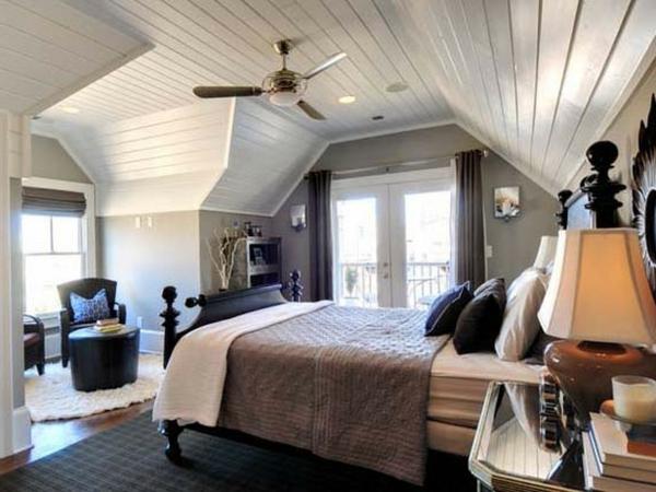 Wohnzimmer Mit Dachschräge Und Interessante Wandgestaltung: Schlafzimmer Mit Dachschräge: 34 Tolle Bilder!