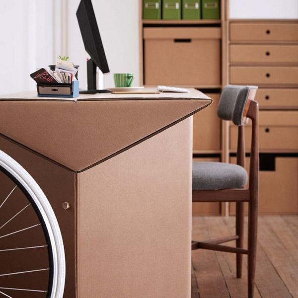 Schreibtisch Aus Pappe Effektvolle Möbel Karton Möbel