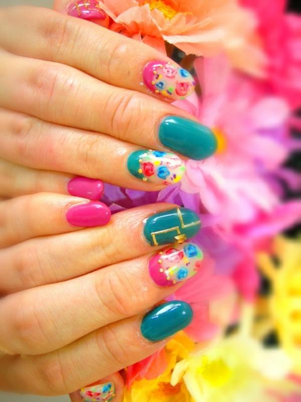 sommer-nageldesign-schöne-farben