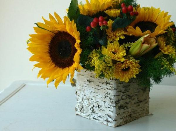 faszinierende dekoideen mit sonnenblumen. Black Bedroom Furniture Sets. Home Design Ideas