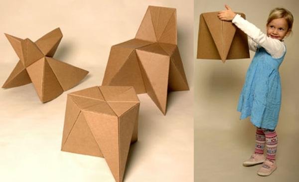 Origami Möbel möbel aus pappe 75 originelle vorschläge archzine