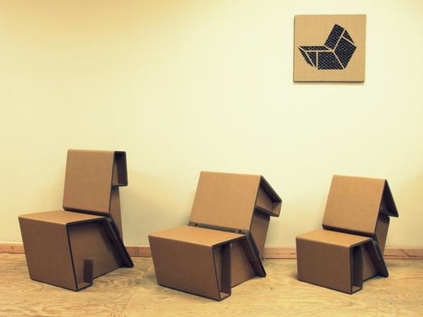 stühle---wohnideen-basteln-mit-karton-kartone-