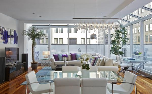 Modernes funktionelles gro es wohnzimmer einrichten - Kleines wohnzimmer groayes sofa ...