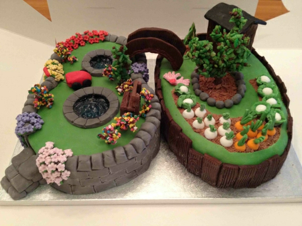 Torten dekorieren 87 erstaunliche bilder for Gardening 80th birthday cake