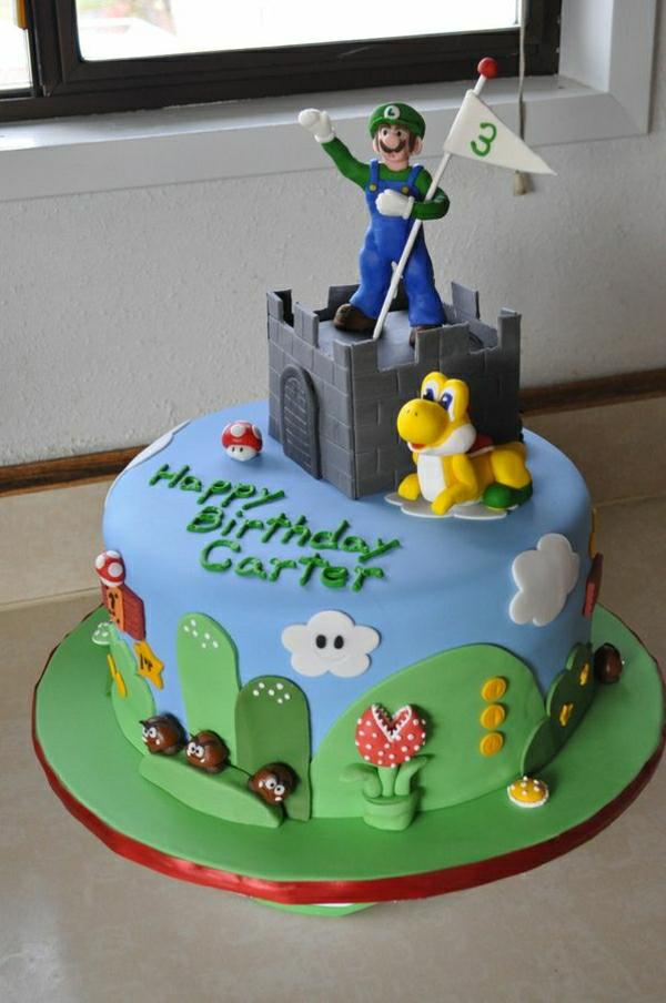 torte-mit-super mario figuren-super mario bilder-super-mario-charaktere-tolle-torten-bestellen-