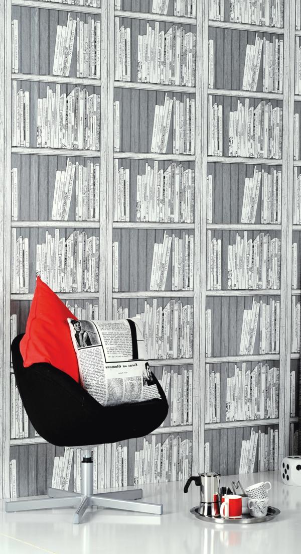 weiß-schwarze-Fototapete-mit-rotem-Akzent-resized