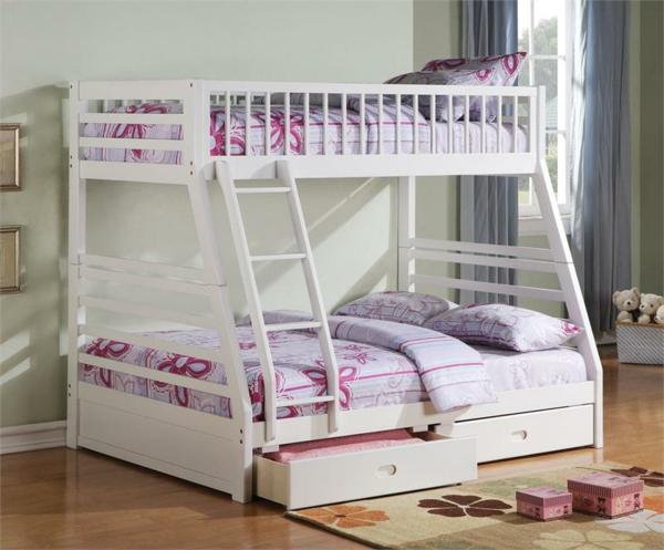 weißes-schönes-modell-hochbett-für-mädchen