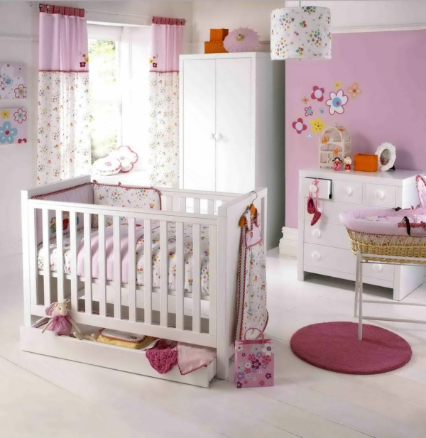 wunderbares-babyzimmer-mädchen-babyzimmer-gestaltung- babyzimmer-einrichten Babyzimmer gestalten