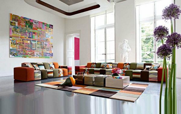 Wohnzimmer Bild Gros ~ Modernes funktionelles großes wohnzimmer einrichten archzine