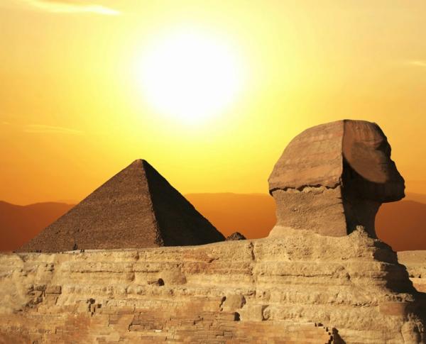 Ägypten bild - wunderschönes Aussehen -pyramiden