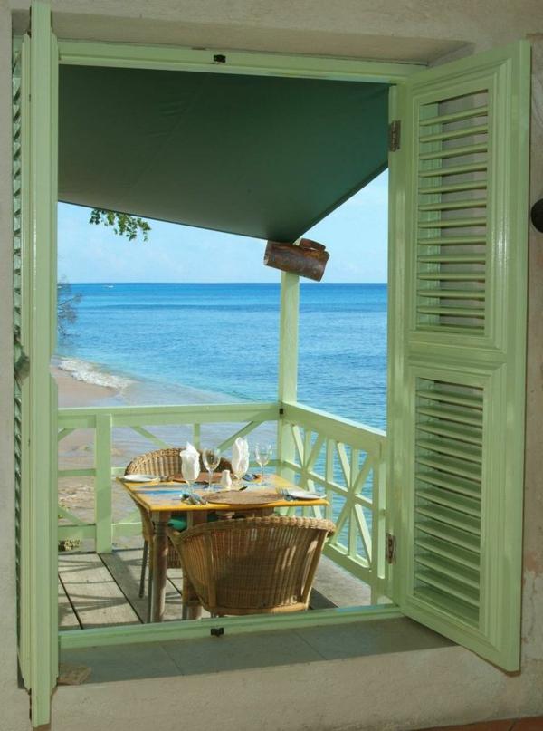 Barbados-Strand-Haus-Balkon