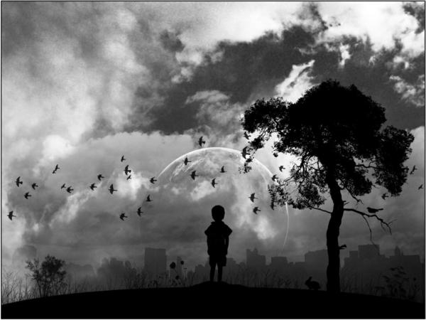 Baum-Kind-Wolken