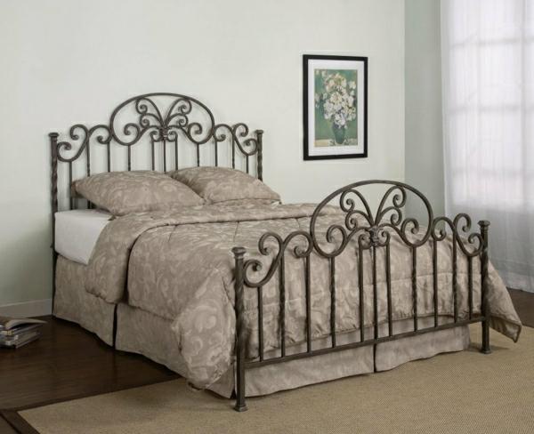 Bett-braun-Schlafzimmer-Bild-Gardinen
