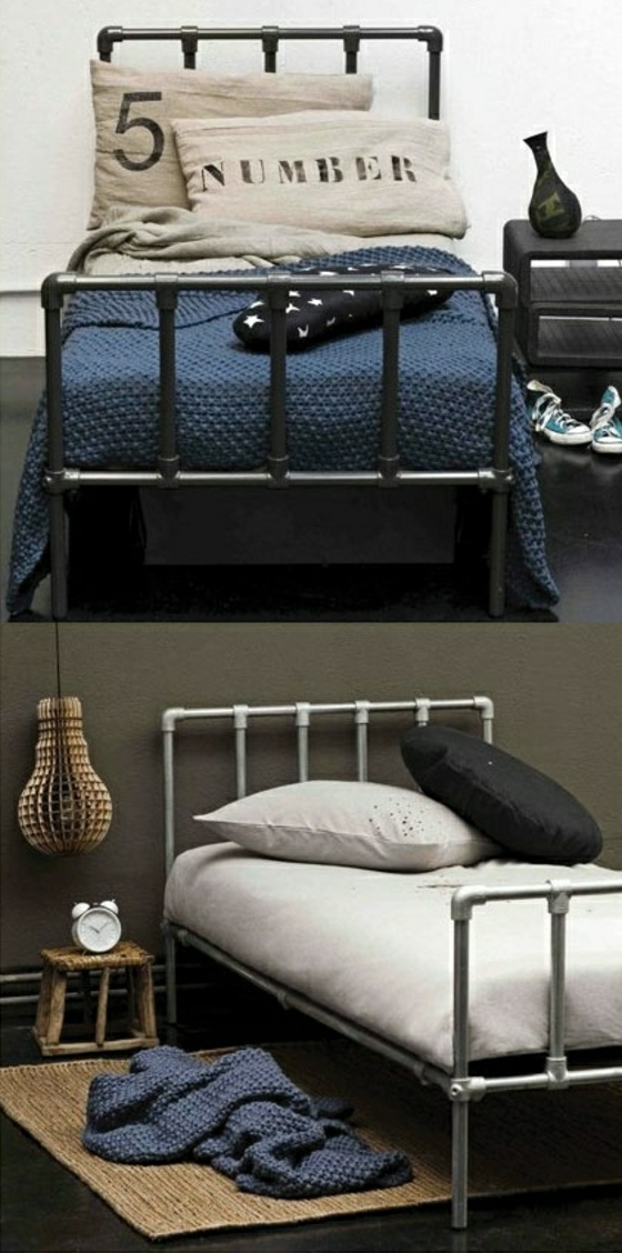 bett aus schmiedeeisen 41 wundersch ne ideen. Black Bedroom Furniture Sets. Home Design Ideas