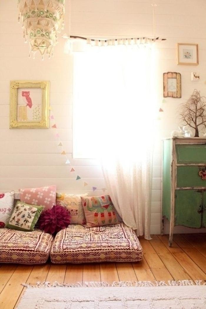 Boho-Kissen-Schlafzimmer