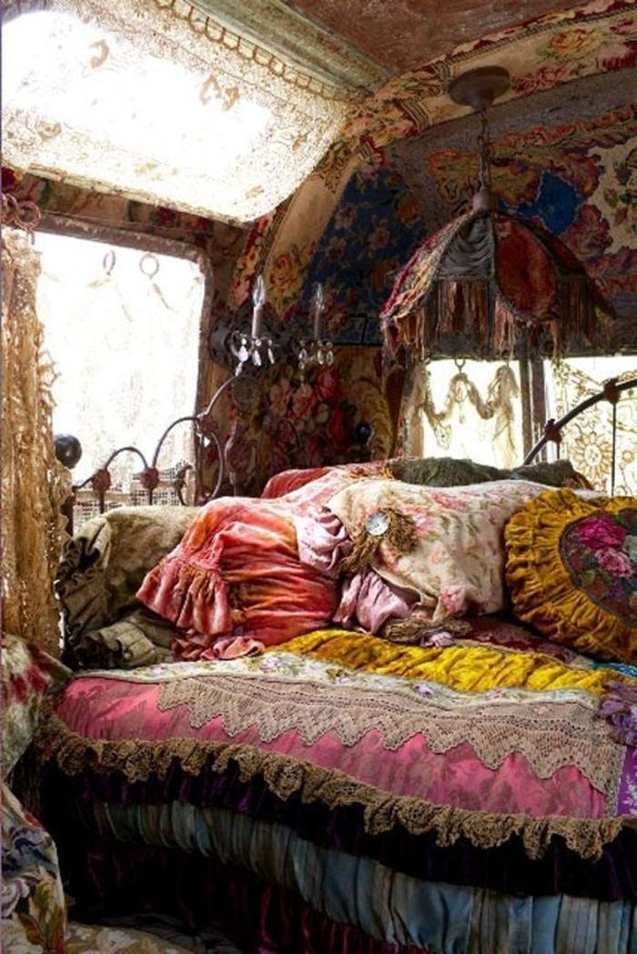 Boho-Schlafzimmer-Vintage