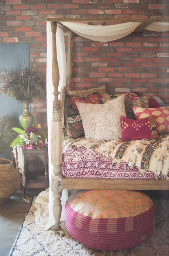 Boho-Stil-farbiges-Schlafzimmer