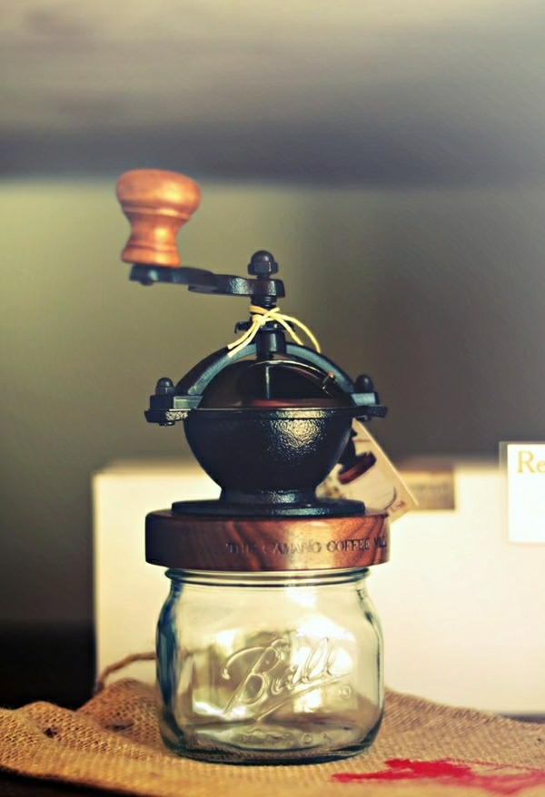 Einweckglas-Kaffee-Mühle