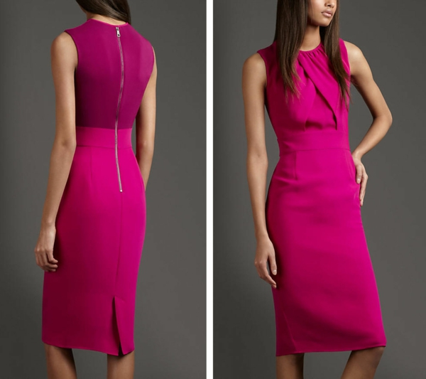 Elegant-Pink-Dress-of-Burberry-Folded-Silk-Dress-for-Women-Fashion-Outfits