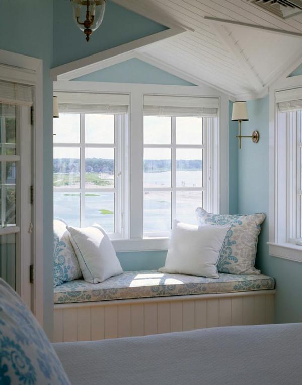 Fenster-Meersicht-Kissen