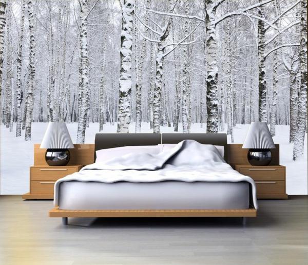 40 ideen mit fototapete wald lassen sie die natur ins haus for Fototapete schlafzimmer