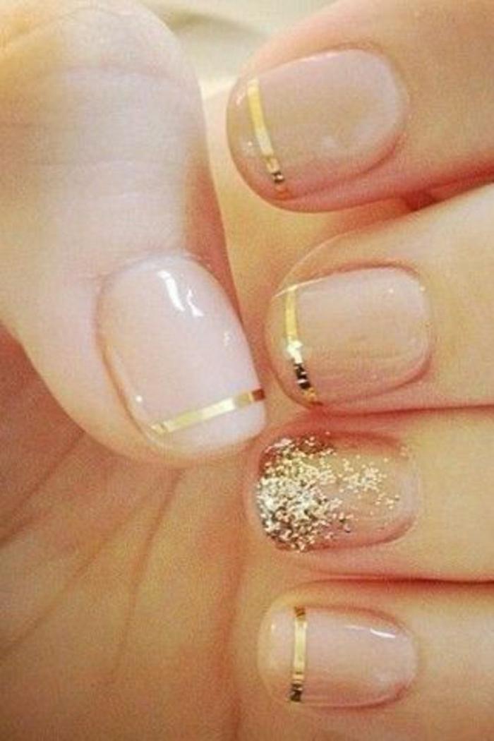 Gel-Nagellack-Körperfarbe-goldene-Elemente-Dekoration