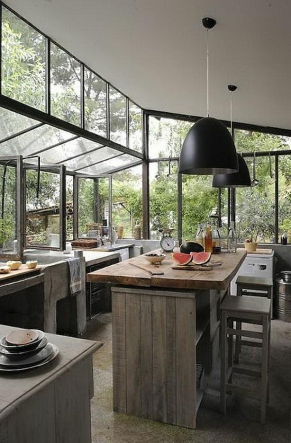 Glas-Landhausküchen-Tisch-aus-Massivholz