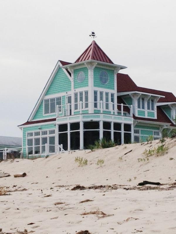 Haus-grün-amerikanisch-Sand