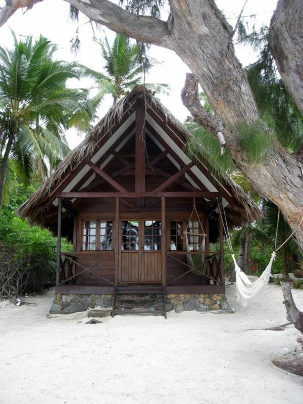 Holzhaus-Sand-Palms-Hängematte