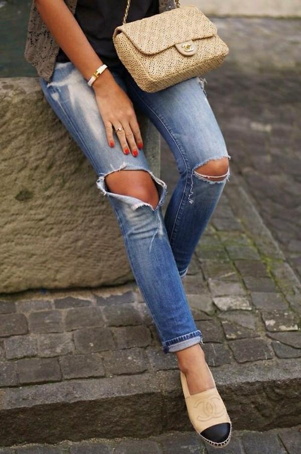 Jeans-Tasche-Schuhe-Chanel