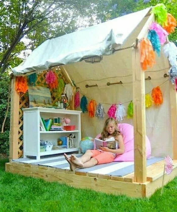 Kinder-Gartenhaus-Mädchen-Buch-Spielzeuge-Papierschmuck