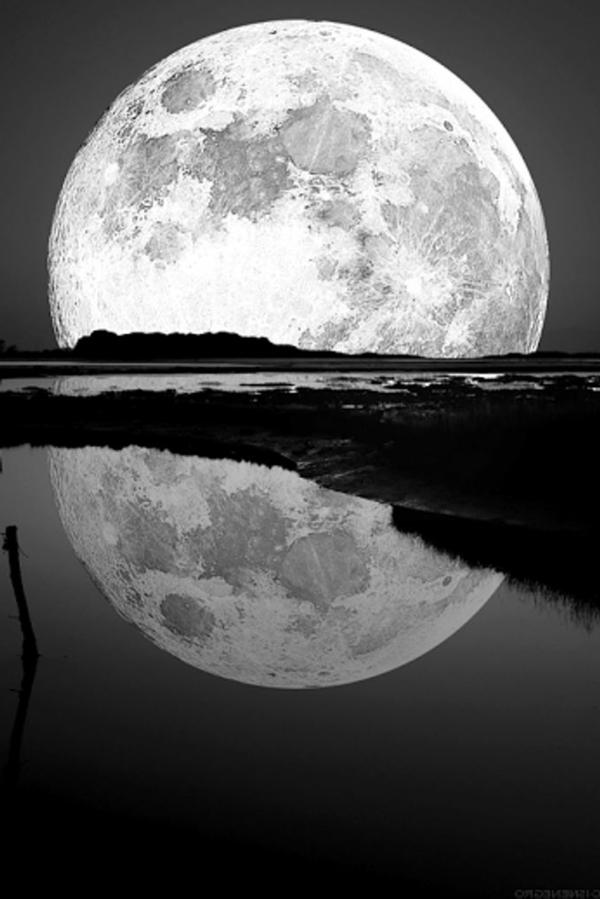 Mond-See-Spiegelung-Foto