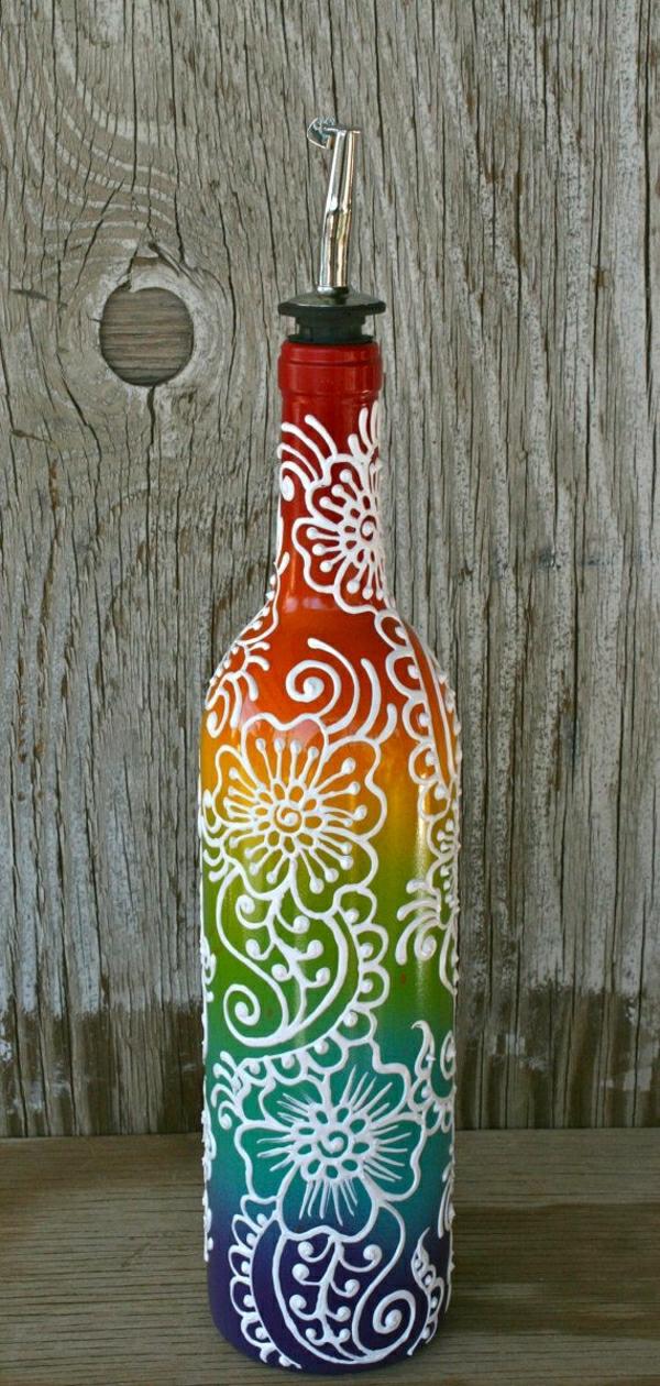 Olivenöl-Behälter-Henna-Regenbogen