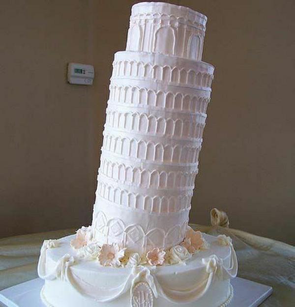 Pisa-Turm-Hochzeit-Torte