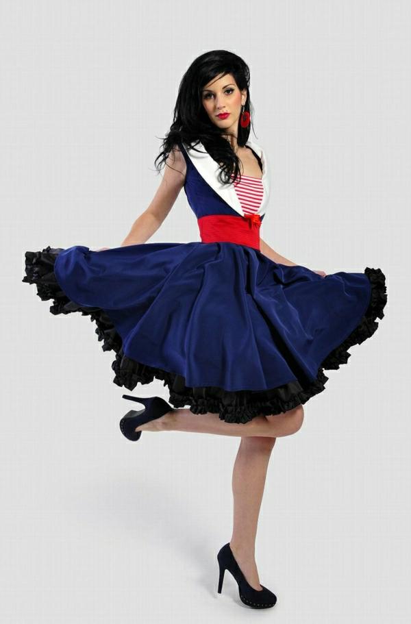 Rockabilly-Swing-Kleid-Gürtel