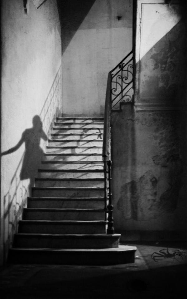 Schatten-Treppe-Haus