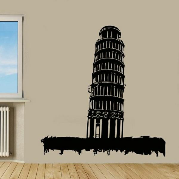 Schiefer-Turm-von-Pisa-Wand-Sticker