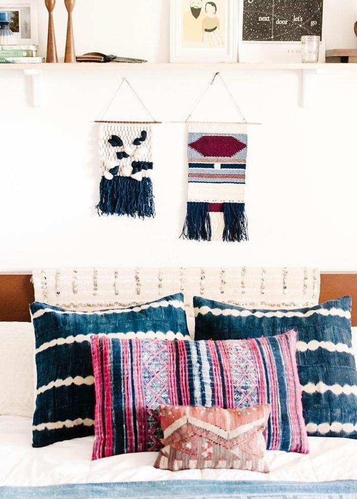 Schlafzimmer-Boho-Kissen