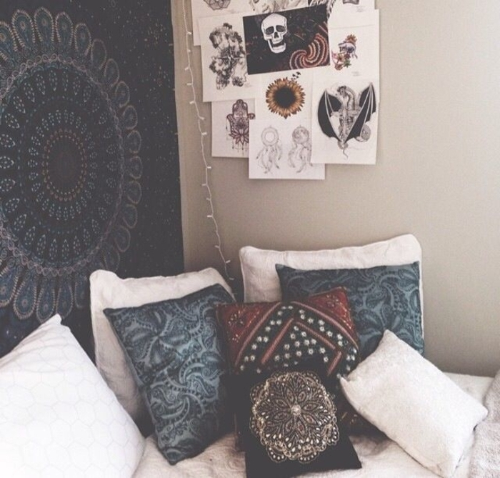 Schlafzimmer-Boho-Stil