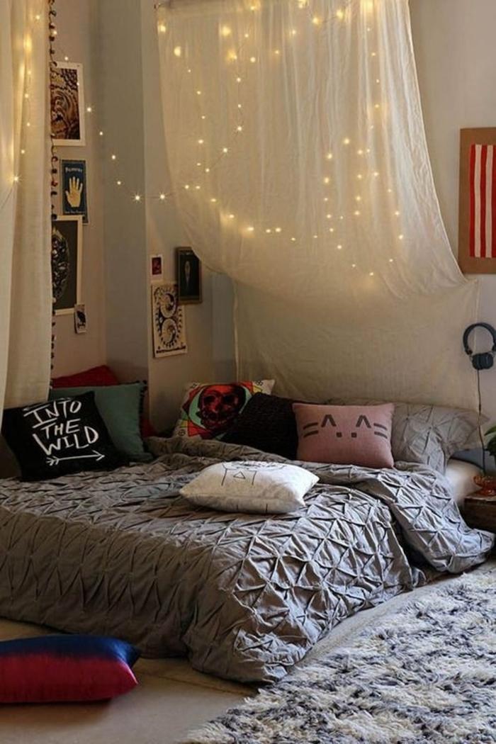 Schlafzimmer-Ideen-Baldachin-Leichten-Boho-Elemente
