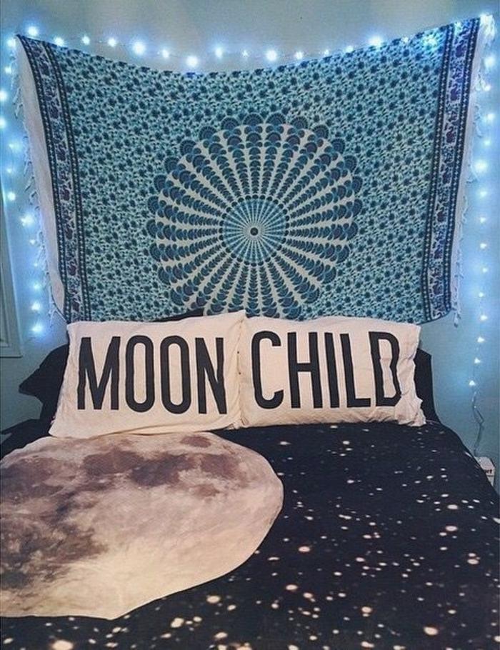 Schlafzimmer-Ideen-Boho-Mond-Elemente