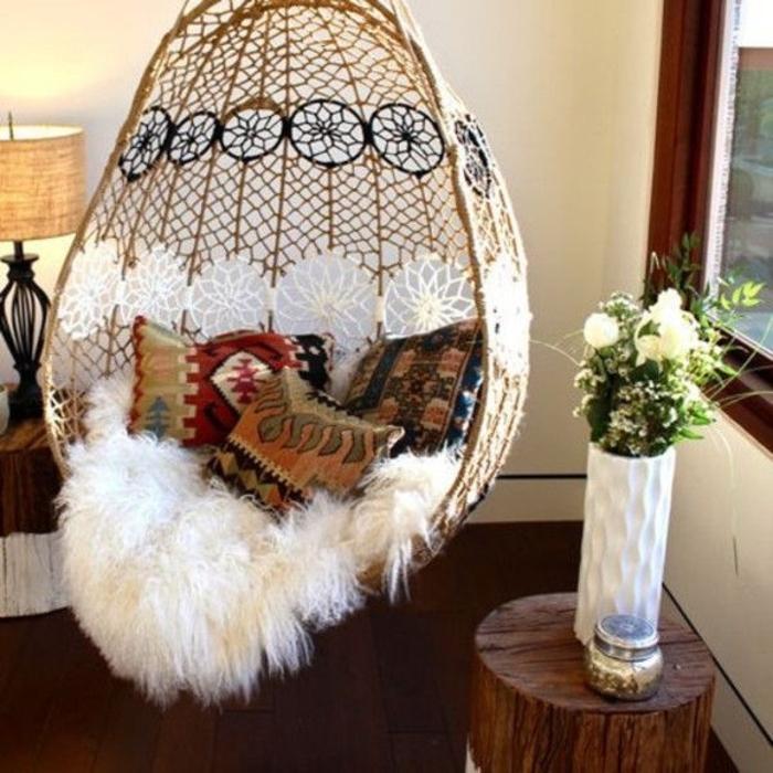 Schlafzimmer-Ideen-Schaukel-Kissen-Boho-Stil