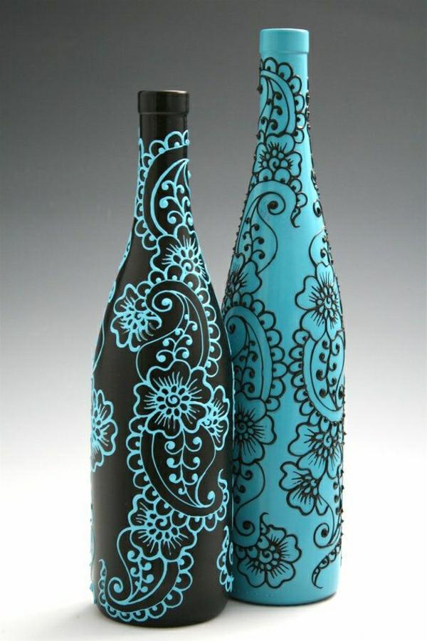 Set-zwei-Flaschen-Henna-Blau-Schwarz