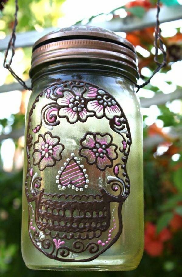 Solarlicht-grünes-Glas-Henna-Muster-Schachtel-Blumen