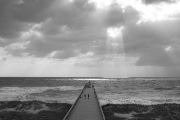 Strand-Sonnenschein-Pier