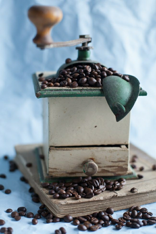 Vintage-manuale-Kaffeebohnen-Mühle