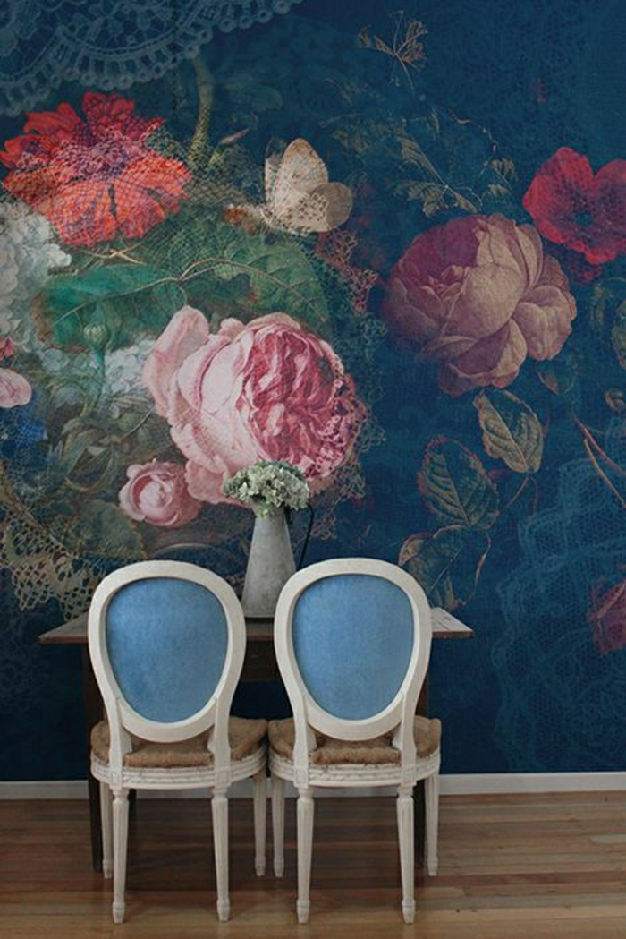 Wand-Dekoration-romantischer-Druck
