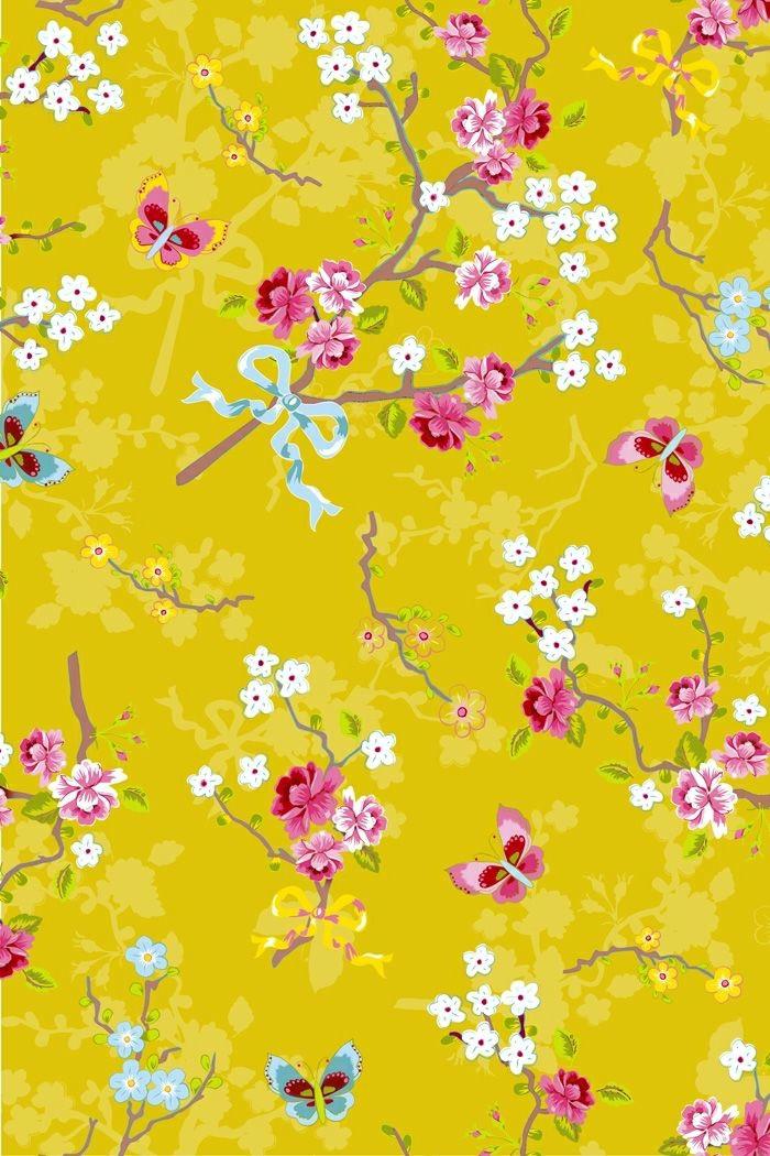 moderne-Tapeten-Wand-Gestaltung-Frühling-Motive