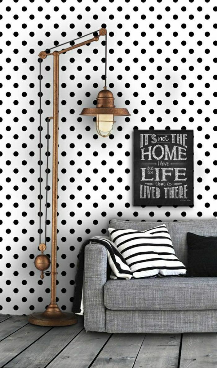 Wand-Gestaltung-Polka-Dots